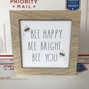 NEW Rae Dunn BEE HAPPY, BEE BRIGHT, BEE YOU Signs